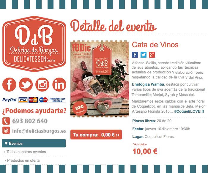 Los eventos de DeliciasBurgos