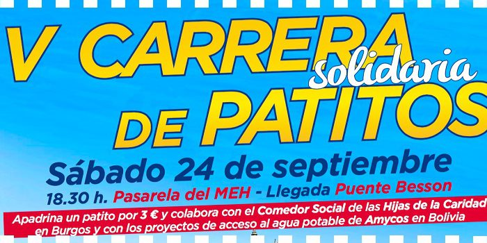 Patitos de goma ...carrera solidaria con Aquí si Burgos!